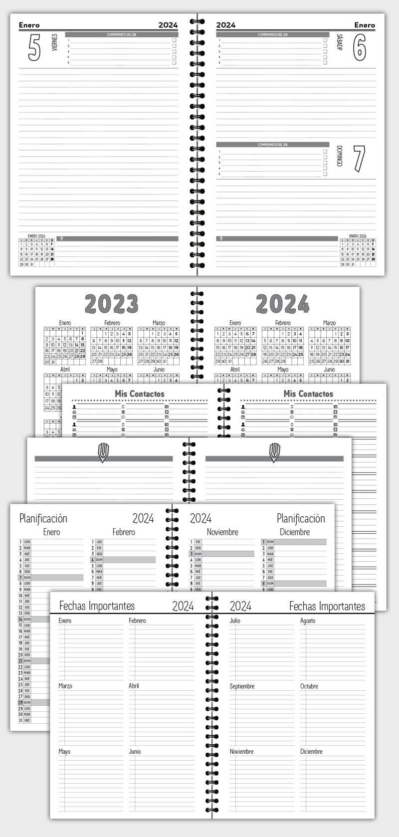 AGENDA DIARIA PARA 2019 EN ARCHIVO DE PLANTILLA MODELO ATD14
