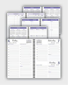 daily schedulle template ATD17