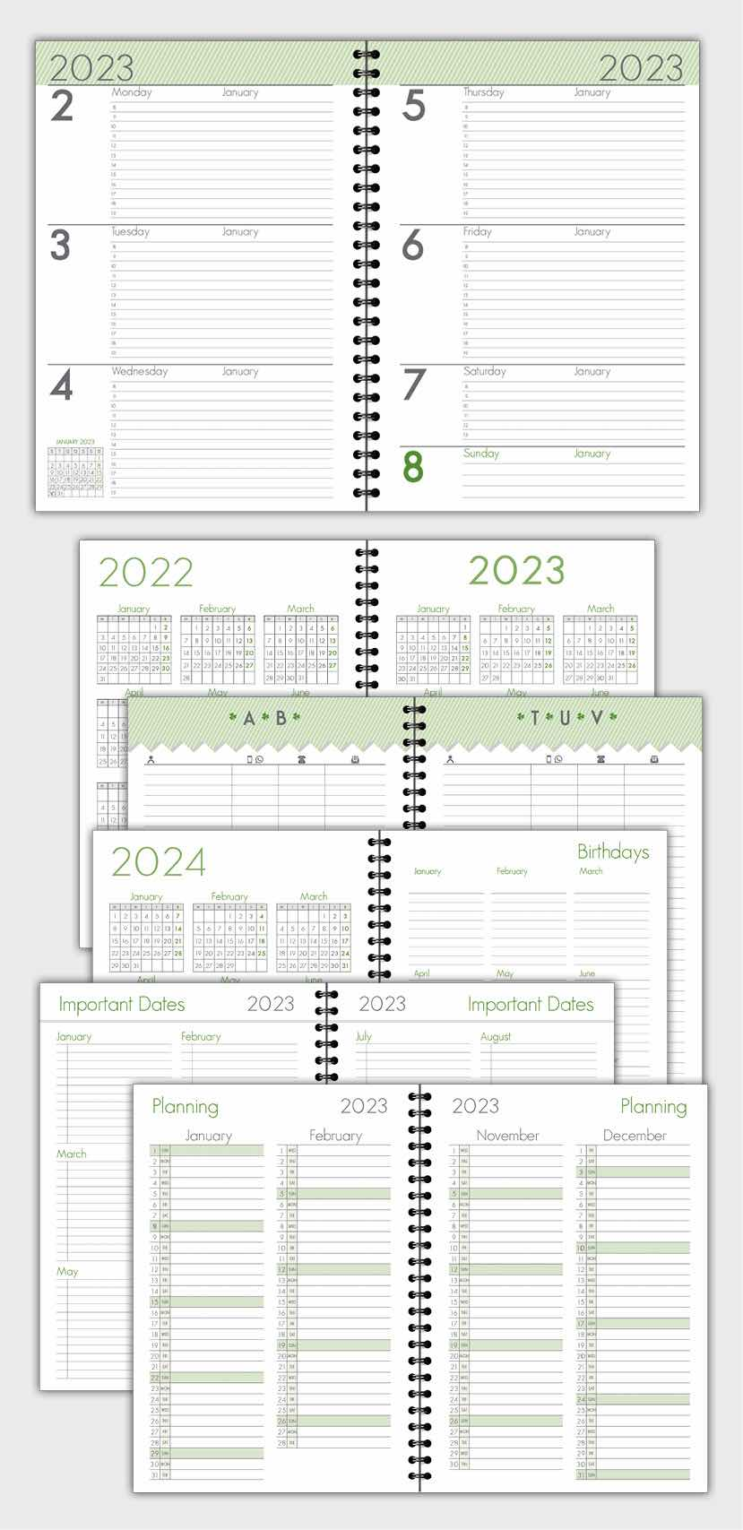 2021 DAILY PLANNER AGENDA TEMPLATE MODEL ATD23