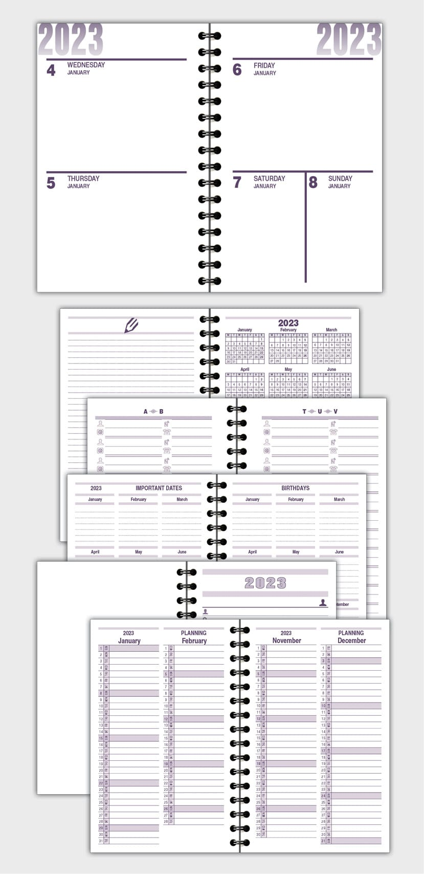 2021 DAILY PLANNER AGENDA TEMPLATE MODEL ATD41