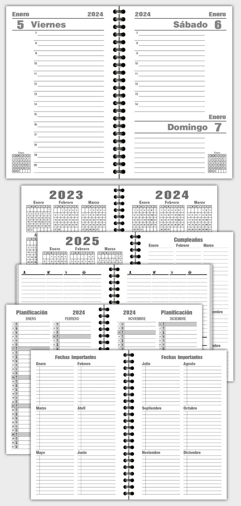 Contemporáneo Plantillas De Ejemplos De Agenda Patrón - Colección De ...