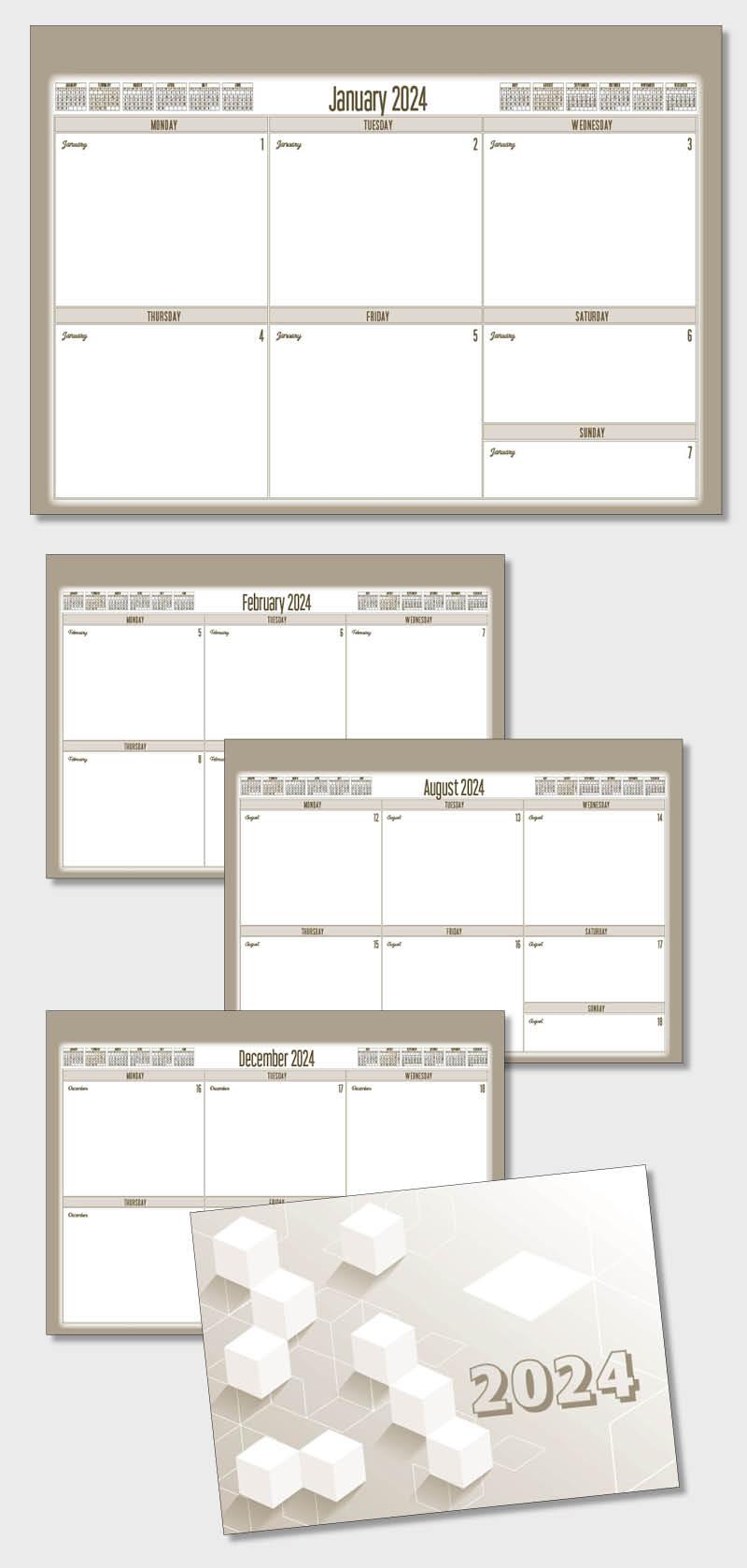 Desk pad planner calendar template model atdp015 planner pad calendar atdp15 maxwellsz